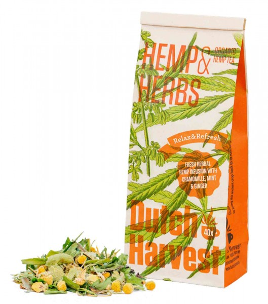 Hanf Lebensmittel - Hemp & Herbs Bio Hanftee - Dutch Harvest